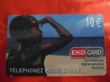 RARE TELECARTE - EKOCARD - ENFANT 1 - PLAGE - GUYANE - 10 € - LUXE - 10000 ex