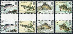 Great Britain 1011-1014 gutter,MNH.Michel 938-941. British River Fish,1983.