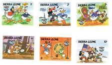 1984 Disney 6 x Sierra Leone Stamp Set Carl Barks Clarence Nash Donald Duck Art