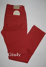 Pantalone HOLIDAY Donna 40 a 54 jeans skinny cotone stretch rosso mod. 322212330