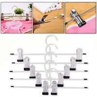 20x  Metal Coat Trousers Pant Hanger Clothes Skirt Adjustable Clip Coatha Gift