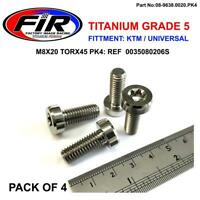 TITANIUM M8X20 TORX45 PK4 BOLTS SCREWS UNIVERSAL KTM SX50 690 DUKE 990 SUPERMOTO