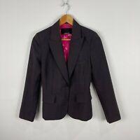 Zimmermann Womens Blazer Jacket Size 0 AU 6-8 Light Brown Long Sleeve Lined