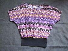 Lester Size Juniors M Woman's Top Blouse Shirt Purple Black Preowned