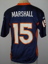 REEBOK BRANDON MARSHALL #15 DENVER BRONCOS BLUE NFL FOOTBALL JERSEY MEN MEDIUM