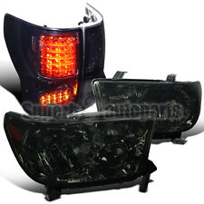For 2007-2013 Toyota Tundra Replacement Headlights Smoke+Tinted LED Tail Lamps