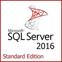 Microsoft SQL Server 2016 Standard Edition - Full 8 Core License, Unlimited CALs