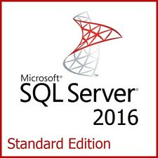 Microsoft SQL Server 2016 Standard Edition - Full 16 Core License, Unlimited CAL