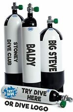 Scuba Diving Cylinder Decals Scuba Tank Sticker Stand Out at Depth Personalised