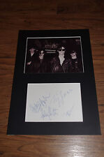 """THE SISTERS OF MERCY signed 8x12"""" autograph matted InPerson in Germany SCARCE !!"""