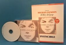 Michael Jackson '01  INVINCIBLE  CD+Book  El Rey Del Pop Limited Edition Import