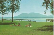 Lakeport CA Skylark Motel & Sea Plane Base with Sunbathing Chicks Postcard 1960s