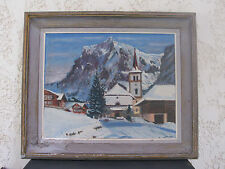 painting mountain snow...paysage de neige