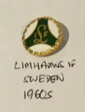 Sweden LIMHAMNS IF Football lapel badge pin Rare ENAMEL 1960s ANTIQUE