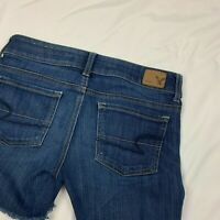 American Eagle Super Stretch 4 Jean Shorts Women's Size 4 Low Rise EUC