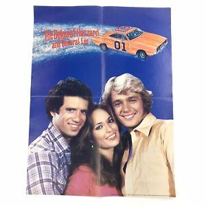 Vtg 1981 Dukes Of Hazzard & General Lee Poster Bo Luke Daisy Duke