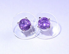 Amethyst earrings/studs (0.375ct each) with pushback, in platinum bond