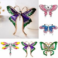 Fashion Crystal Butterfly Dragonfly Animal Brooch Pin Women Charms Jewelry Gifts