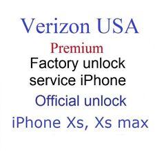 Verizon Premium factory unlock code service for Apple iphone XR / XS FAST