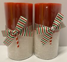 Pier 1 Imports Peppermint Party 3 X 6 Pillar Christmas Candles