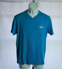 Lacoste Blue V-Neck Regular Fit Casual Shirt Men's Sz M