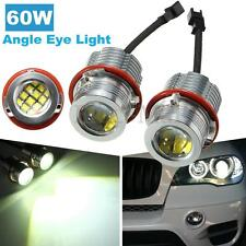 Pair Super Bright 60W LED Angel Eyes Bulbs Error Free For BMW E39 E60 E63 E53