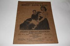 Midget Car Auto Racing Program Fresno California Airport Speedway Oct 20 1946 #2