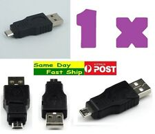 .OTG USB 2.0 type A Male to Micro 5 pin Male Adapter Converter Connector plug AU