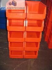 10x Sichtlagerbox LF 221 rot Kasten Box Lagerkisten Schäferbox SSI 230x150x122