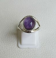 Amethyst Ring 925 Sterling Silver Ring Size 8 US Gemstone Ring R0182