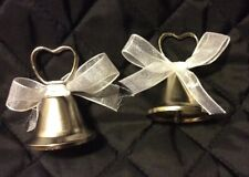 Five Wedding Place Card Holder silver Metal Bells.Sold together as a bundle.
