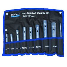 8PC TUBULAR BOX SPANNER BACK NUT TAP WRENCH SET MONOBLOC 6-22mm & NYLON WALLET