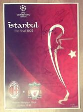 Multi Signed Liverpool Champions League 2005 Programme Print - Istanbul