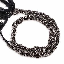 2 mm Natural Coated Pyrite Faceted Round Rondelle Beads Jewelry 33 cm Strand AB5