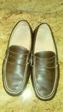 Polo Ralph Lauren Arkley Brown Leather Penny Loafers Shoes Mens Size 7.5