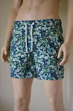 "Abercrombie & Fitch Campus Fit Floral Graphic Swim Shorts Blue Green L 34"" £60"