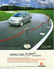 PUBLICITE ADVERTISING 065  2001  CITROEN  la XSARA PICASSO  EXCLUSIVE