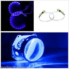 "15-SMD LED Angel/demon Eye Halo Ring Blue 2.5"" 2.8"" 3.0"" Retrofit Projector Lens"
