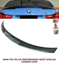 BMW 4 SERIES F82 M4 COUPE PERFORMANCE REAR TRUNK BOOT SPOILER CARBON LOOK 14+