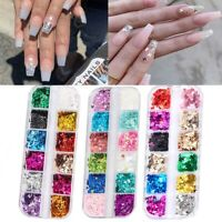 Nail Decoration 3D Butterfly Flakes Nail Glitter Sequins Holographic Laser