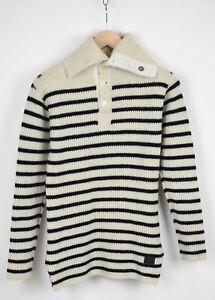 G-STAR RAW EGER 1/2 CLOSURE KNIT L/s Men's ~X SMALL Wool Blend Sweater 32351-JS