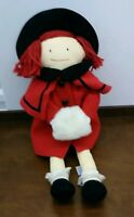 "Madeline Eden Retired1990 Cloth Doll Plush 20""Christmas"