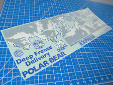 Tamiya RC 1/14 Deep Freeze Delivery Polar Bear Semi Truck Trailer Decal Sticker