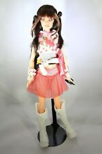 """BARBIE DOLL TYPE - with go-go boots and go army pin purse  - 12"""" figure - LOOSE"""