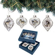 Wolf Ornament issue 2 - set of 4 Ornament Al Agnew Wolves Bradford Exchange