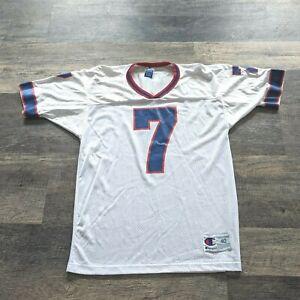 Vintage 99 Doug Flutie 7 Buffalo Bills Champion Jersey Size 40