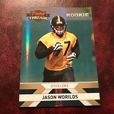 2010 Panini Set JASON WORILDS ROOKIE Threads SERIAL #065/100 STEELERS ** MINT **