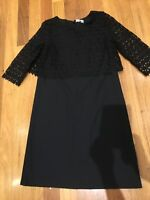 Grace Hill Dress Black Lace Size 10 Work Office Formal Wedding Good Condition