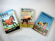 Lot of 3 Vintage Horse HC Books Black Beauty Frog Mustang