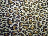 Leopard 2 Animal Print Polycotton Craft/Bunting/Dress Fabric FREE P+P